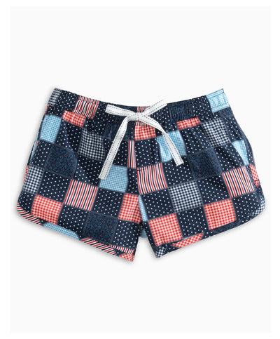 Southern Tide - USA Patchwork Lounge Short