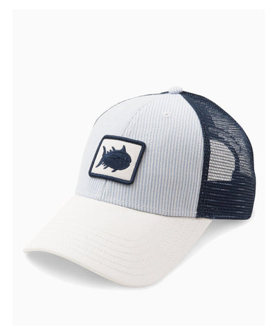 Southern Tide - Women's Skipjack Patch Seersucker Trucker Hat