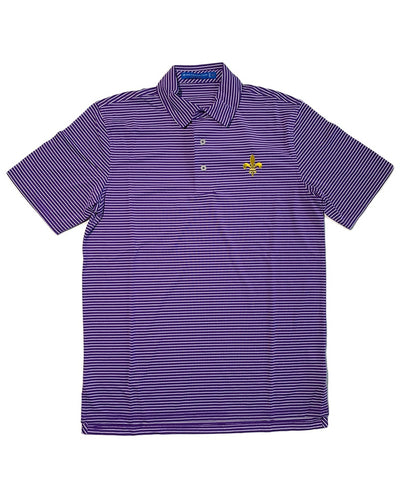 Southern Tide - LSU Gameday - Fleur De Lis Stripe Polo