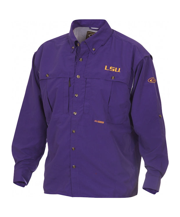 Drake - LSU Wingshooter's Long Sleeve Shirt