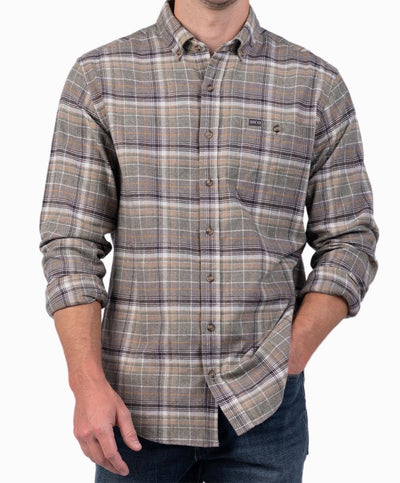 Southern Shirt Co - Tahoe Heather Flannel Long Sleeve Shirt