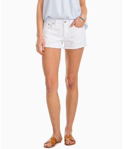 Southern Tide - Hayes White Denim Shorts