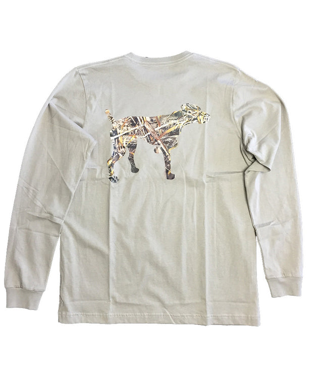 Southern Point - Signature L/S Tee Camo Logo Dog - Goat