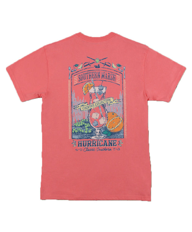 Southern Marsh - Cocktail Collection Tee: Hurricane - Coral Back