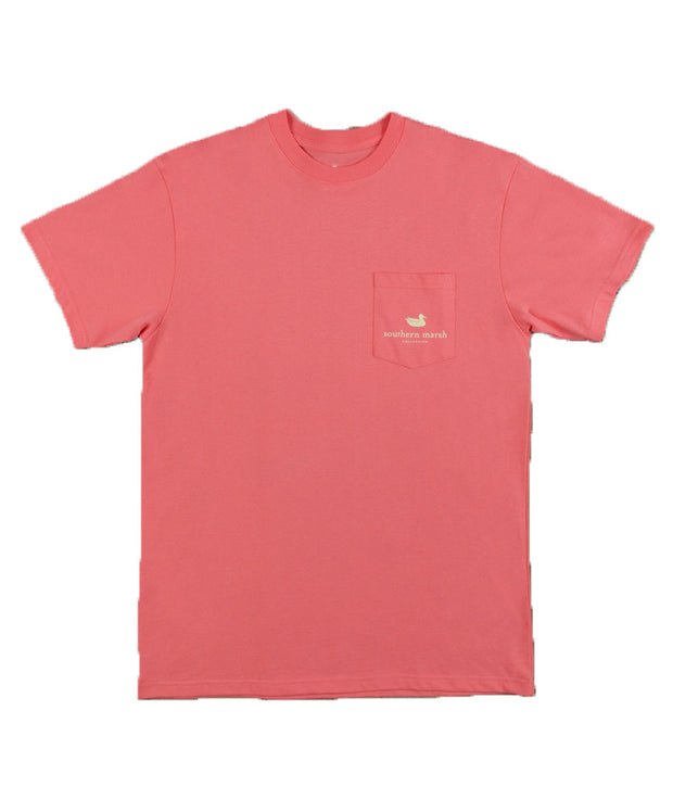 Southern Marsh - Cocktail Collection Tee: Hurricane - Coral Front