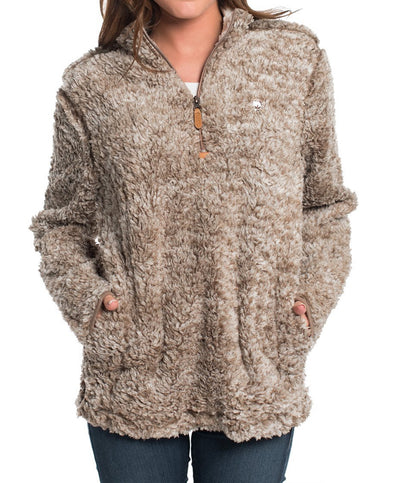 Southern Shirt Co - Heather Sherpa Pullover w/Pockets