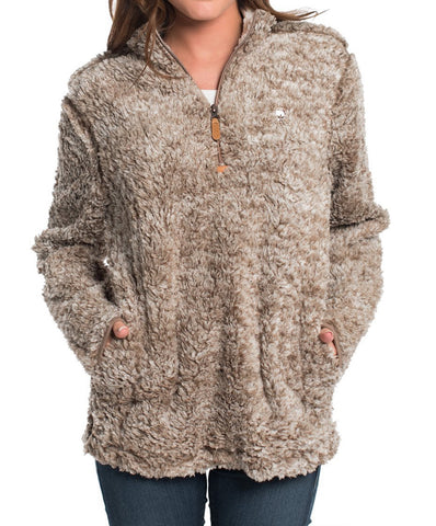 Southern Shirt Co. - Heather Sherpa Pullover w/Pockets
