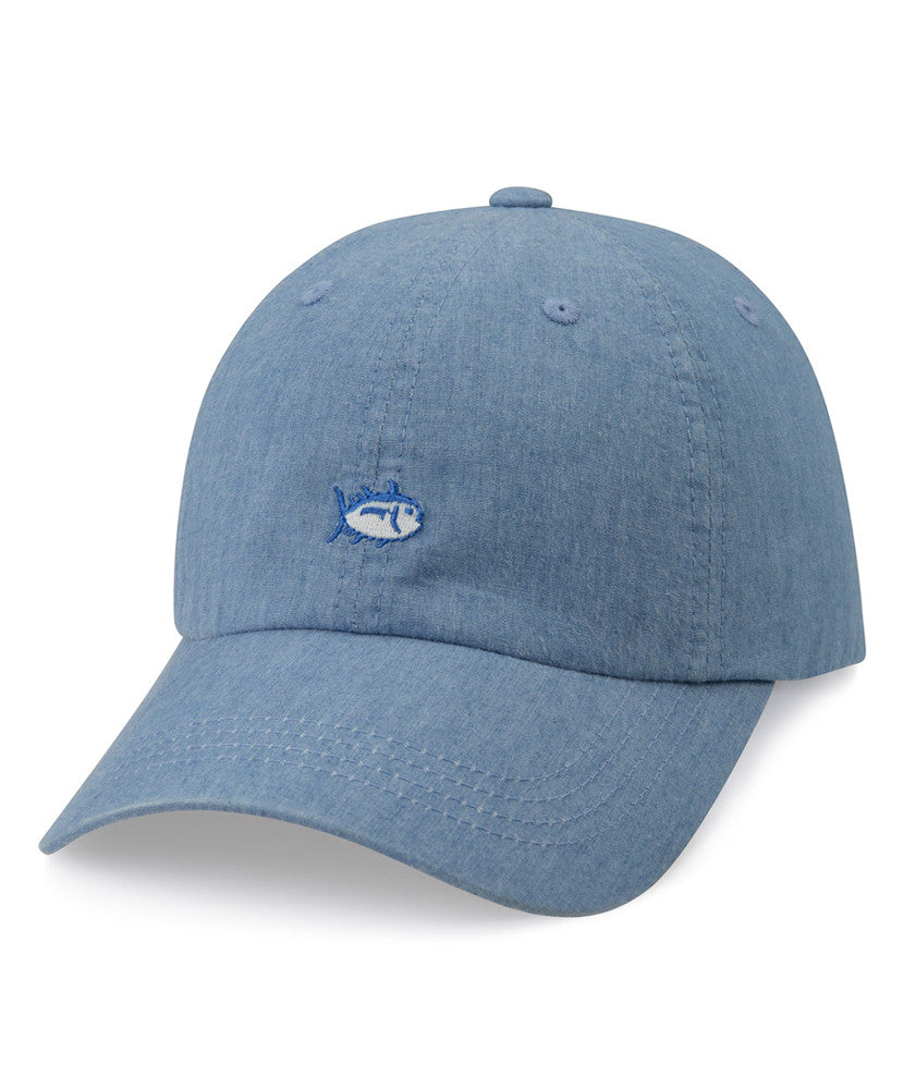 Southern Tide - Chambray Madras Skipjack Hat