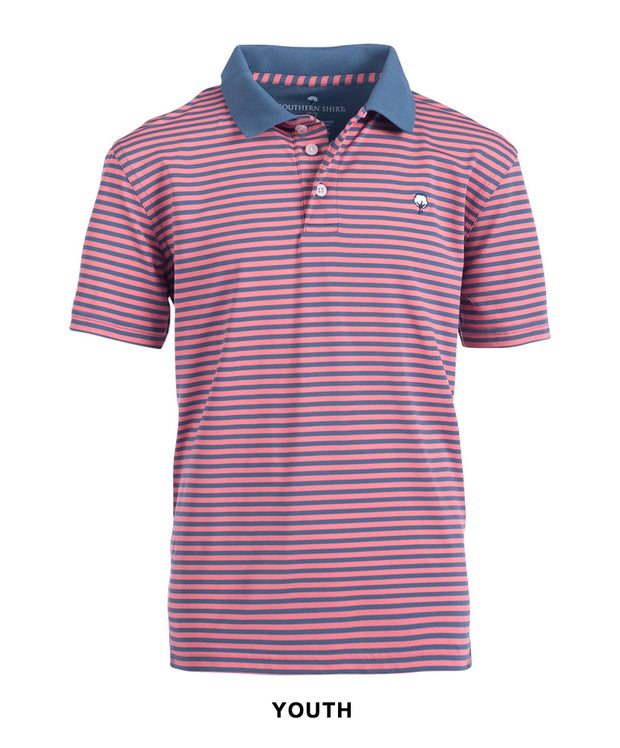 Southern Shirt Co - Boys Hilton Stripe Perf Polo