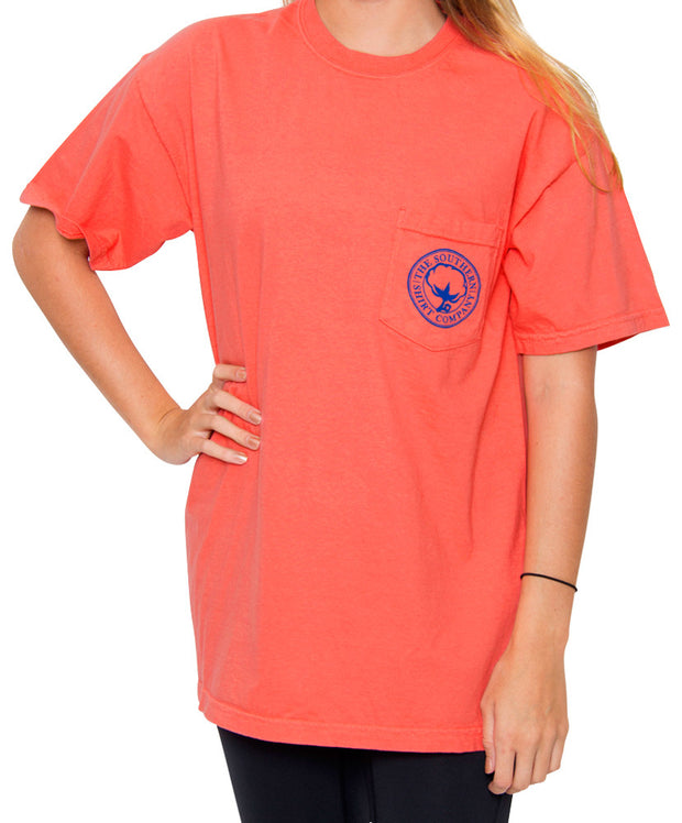 Southern Shirt Co. - Mint Julep Short Sleeve Tee - Sugar Coral Front