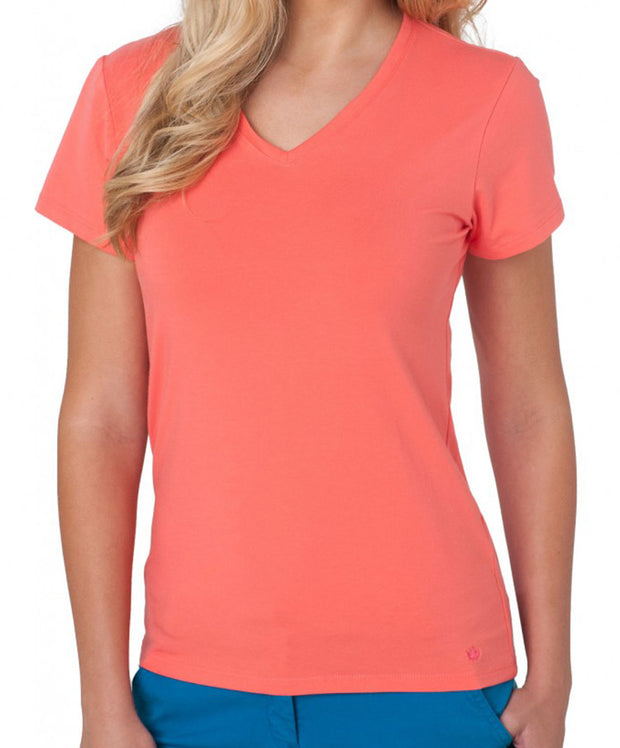 Southern Tide - V-Neck Short Sleeve Tee - Island Coral