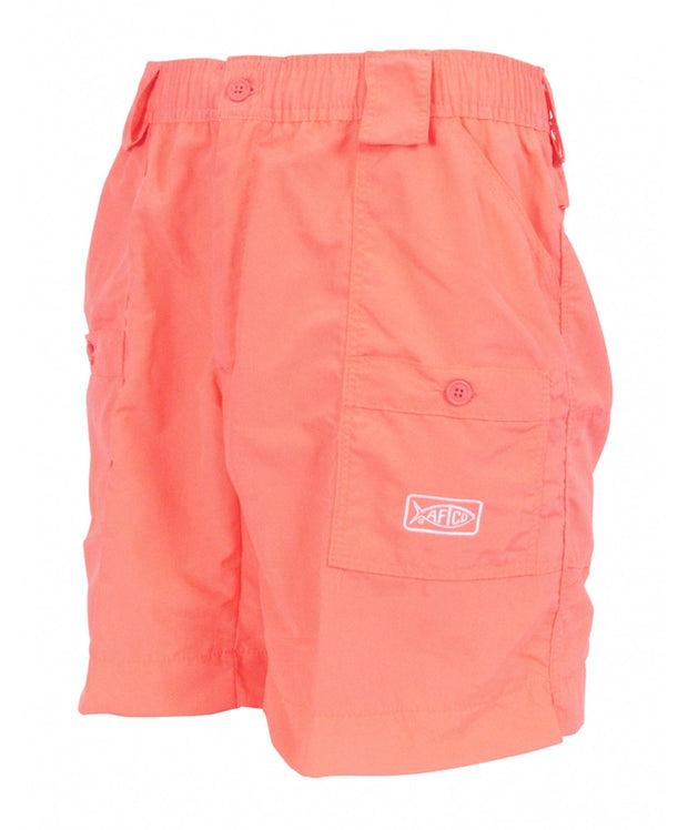 "Aftco - Original Long Fishing Shorts 18"" - Coral"