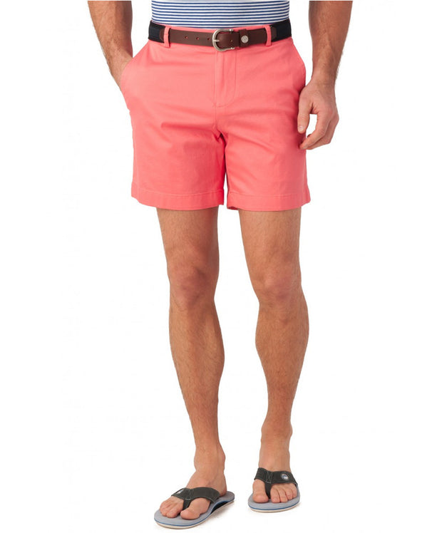 "Southern Tide - Summer Weight 7"" Channel Marker Short - Coral Beach"