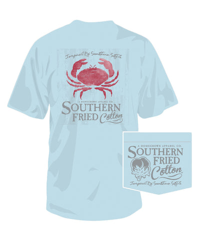 Southern Fried Cotton - Low Country Crab Pocket Tee