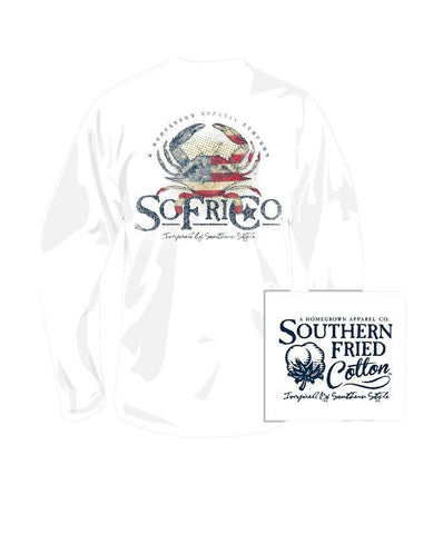 Southern Fried Cotton - Youth American Crab Long Sleeve Tee