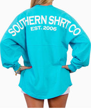 Southern Shirt Co.- Crew Neck Jersey Pullover Blue Radiance Back