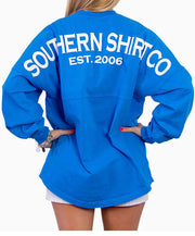 Southern Shirt Co.- Crew Neck Jersey Pullover Marina Blue Back