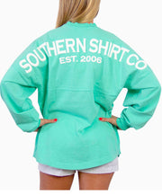 Southern Shirt Co.- Crew Neck Jersey Pullover New Mint Back