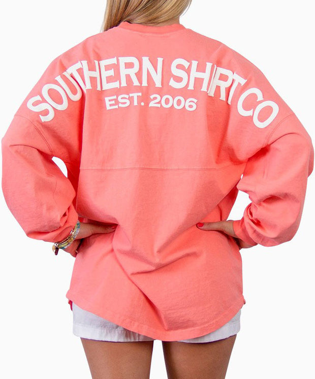 Southern Shirt Co.- Crew Neck Jersey Pullover Pink Salmon Back