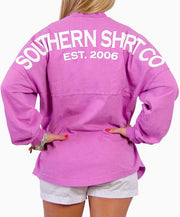 Southern Shirt Co.- Crew Neck Jersey Pullover Violet Back