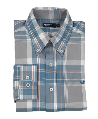 Southern Marsh - Bedford Plaid Dress Shirt