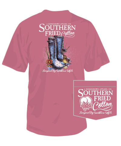 Southern Fried Cotton - Dancin' In The Rain Pocket Tee
