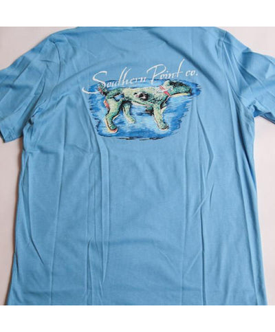 Southern Point - Dog Island Signature Tee- Blue