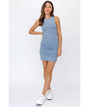 Make It Happen Ruched Tank Dress