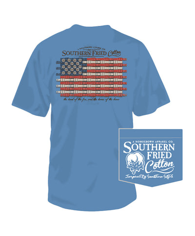 Southern Fried Cotton - Duck Call Flag Tee