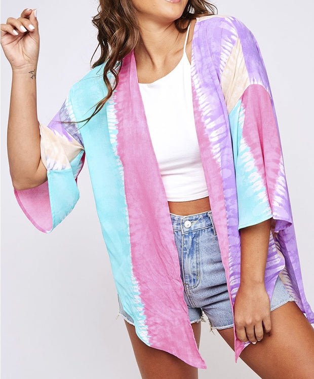 Follow Your Rainbow Tie Dye Kimono