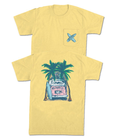 Old Row - Palm Trees Pocket Tee