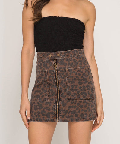 Leopard Lady Skirt