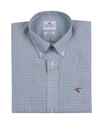 GenTeal - Brrr Gulf Plaid Performance L/S Sport Shirt