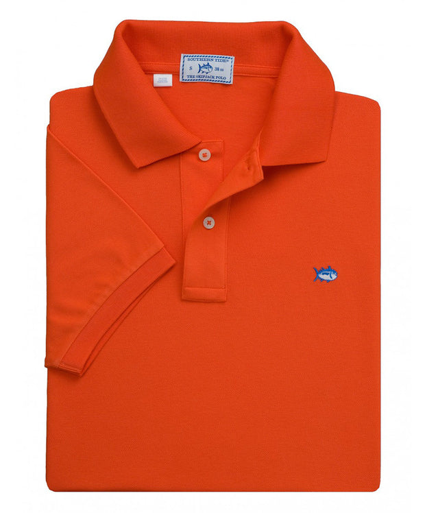 Southern Tide - Classic Skipjack Polo - Endzone Orange