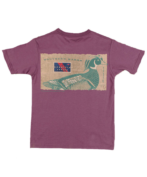 Southern Marsh - Youth Expedition Series: Wood Duck T-Shirt - Iris