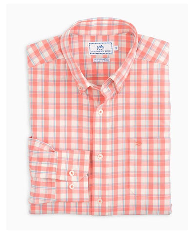 Southern Tide - Salt Cedar Plaid Intercoastal Sportshirt