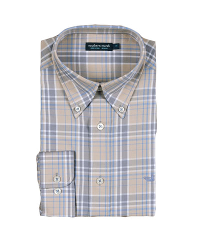 Southern Marsh - Lexington Windowpane Long Sleeve Dress Shirt