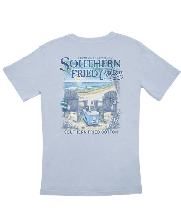 Southern Fried Cotton - Somewhere On A Beach Tee