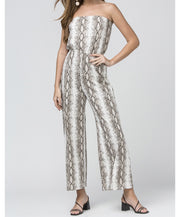 Made You Look Snake Skin Jumpsuit