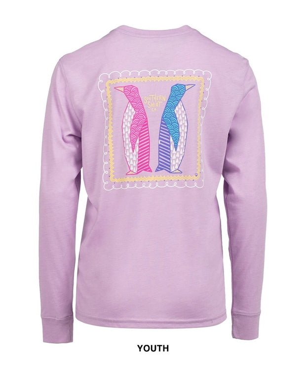 Southern Shirt Co - Youth Peppy Penguins Long Sleeve Tee