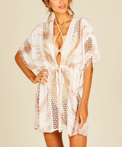 Tie Dye Embroidered Coverup