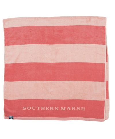 Southern Marsh - Stripes Beach Towel