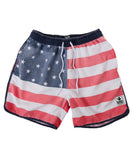 Rowdy Gentleman - Faded American Flag Swim Trunks