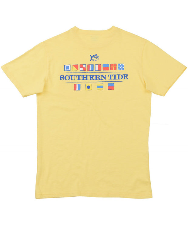 Southern Tide - Nautical Flags T-Shirt - Sunshine