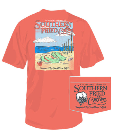Southern Fried Cotton - Flip Floppin Pocket Tee