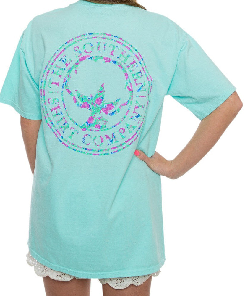 Southern Shirt Co. - Flower Logo Tee - Ocean Blue