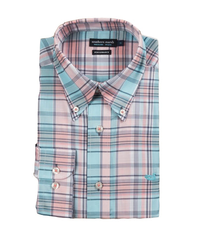 Southern Marsh - Kershaw Performance Plaid Long Sleeve Shirt