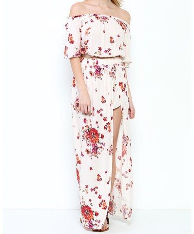 Illa Illa - Floral Crop Top With Matching Maxi Skirt Set