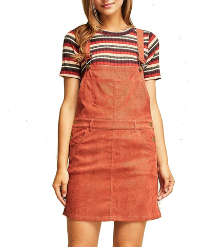 Perfect Example Overall Dress