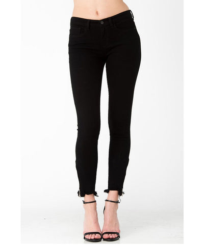 Back In Black Cropped Black Jeans